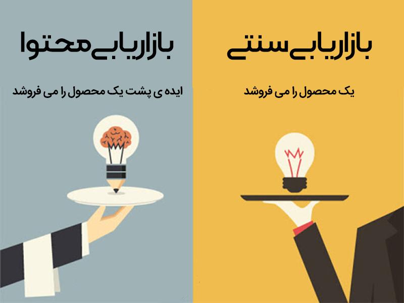تفاوت بازاریابی سنتی و بازاریابی محتوا